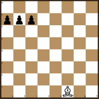 Bishop v Three Pawns starting position