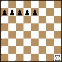 Rook v Five Pawns starting position