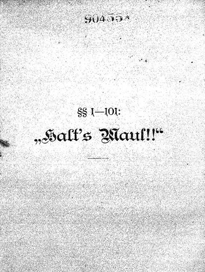 Halt's Maul!! (book)
