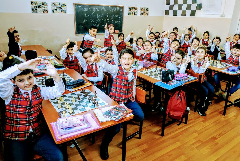 Chess class in Armenia