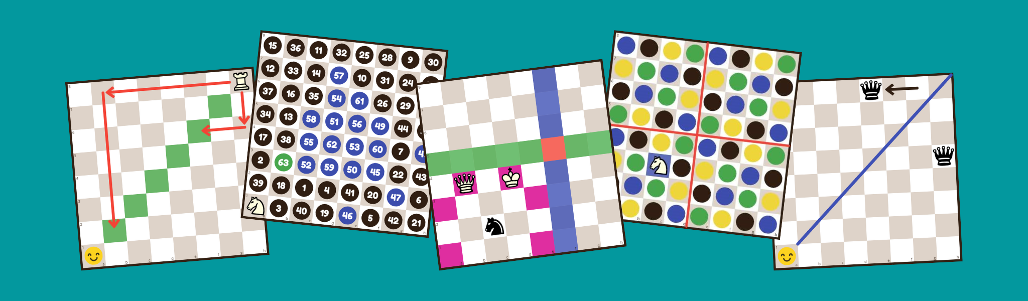 Chess and Maths puzzles website header